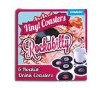 Glasuntersetzer Rockabilly Vinyl Coaster 6er Set