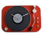 Wall clock record player red
