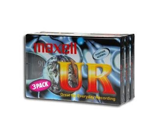 Maxell Audio Tape UR90 3er Pack