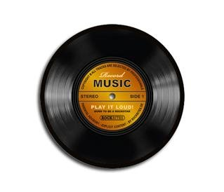 Mousepad - Record Music - gold