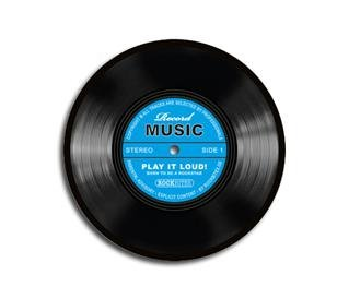 Mousepad - Record Music - blau