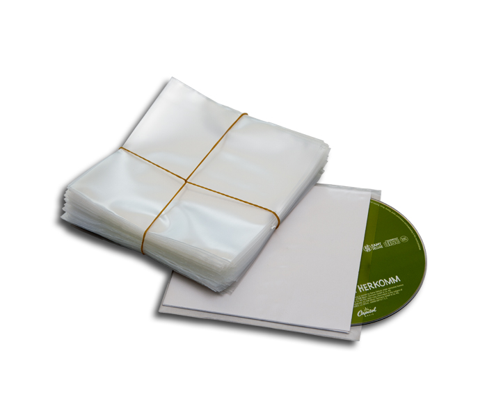 CD protective sleeves for a cardboard cover