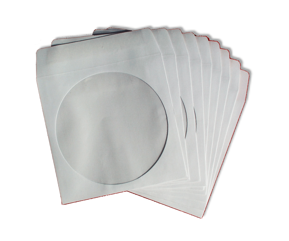 Cd paper sleeves with flap for 100 paper cd sleeves with window flap
